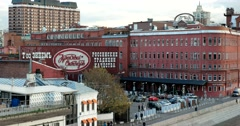 """Historic chocolate factory """"Red October""""(partnership einem). Stock Footage"""