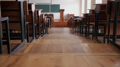 Large empty lecture room at the University. Stock Footage