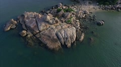 Aerial View of the Peninsula and the Landmark, the Garden of Stones Stock Footage