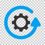 Gearwheel Rotation Direction Vector Icon Stock Illustration