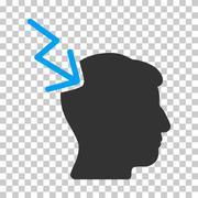 Head Electric Strike Vector Icon Stock Illustration