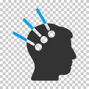 Neural Interface Vector Icon Stock Illustration