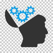 Open Mind Gears Vector Icon Stock Illustration