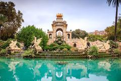 Cascada monumental, Barcelona, Spain Stock Photos