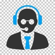 Support Manager Vector Icon Stock Illustration