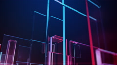 Animated Glass Rectangles Stock Footage