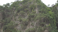 Famous landmark and famous travel destination - James Bond island in the Phang Stock Footage