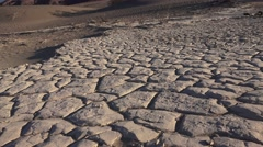Dry lake bed , zoom in /out Stock Footage