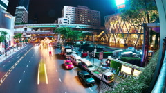 Nightly traffic in Bangkok Stock Footage