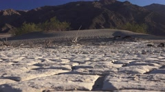 Zoom out , Death Valley clay pan Stock Footage