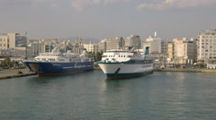 The port of pireaus in athens, greece Stock Footage