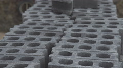 The bricks are grey in Thailand Stock Footage