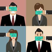 Set of bribery concept Stock Illustration