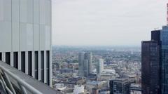Frankfurt Aerial from rooftop 4k Footage Stock Footage