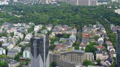 Frankfurt Bundesbank and Westend Aerial 4k Footage Stock Footage