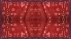 Red Mosaic Room Background. Stock Footage
