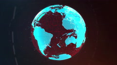 Projection of Planet Stock Footage