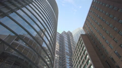 Moving shot of skyscrapers in Sydney CBD Stock Footage