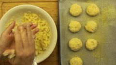 How to make Cutlets dish from cauliflower - meal at any time of the year Stock Footage