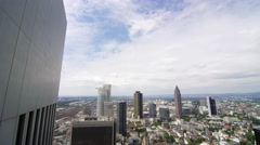 Frankfurt Panorama from a rooftop 4k Footage Stock Footage
