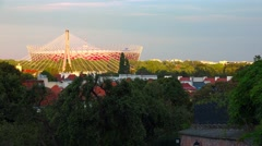 The National Stadium in Warsaw. Poland. 4K. Stock Footage