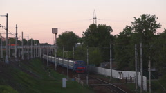 Movement of trains in suburbs Stock Footage