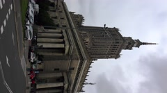 Palace of Culture and Science in Warsaw, Poland.  4K. Vertical frame. Stock Footage