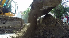 Zrenjanin, SERBIA- August 2013: Construction Work on the New City Heating System Stock Footage