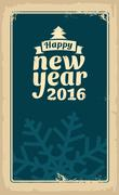 Christmas and Happy New Year 2016. Stock Illustration