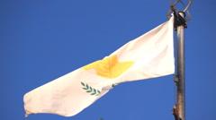 Cyprus flag against a sky Stock Footage