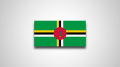 4K - Dominica country flag Stock Footage