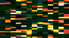 Twinkling Horizontal Small Squared Hi-Tech Bars, Multi Color, Abstract, Loopable Stock Footage