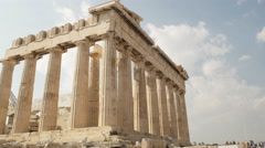 Tilt up shot of the parthenon at the acropolis in athens greece Stock Footage