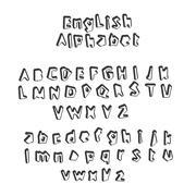 English alphabet vector Stock Illustration