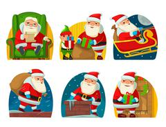 Santa Claus and elf. Stock Illustration