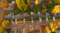 City Autumn Aerial Morning. Stock Footage