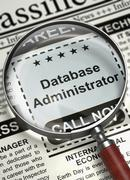 Database Administrator Wanted. 3D Stock Illustration