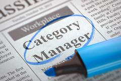 Category Manager Wanted. 3D Stock Illustration