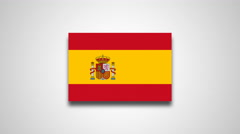 4K - Spain country flag Stock Footage