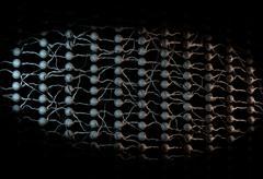 Neural net. Neuron network. Deep learning. 3d illustration Stock Illustration