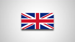 4K - United Kingdom country flag Stock Footage