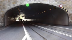 Road tunnel in Warsaw. Poland. 4K. Stock Footage