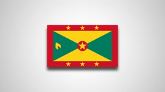 4K - Grenada country flag Stock Footage