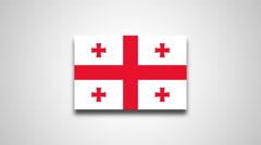 4K - Georgia country flag Stock Footage