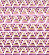 Abstract textile triangular pattern Stock Illustration