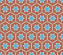 Winter hexagonal pattern on paper and textiles Stock Illustration