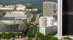 Frankfurt Messe Aerial 4k Footage Stock Footage