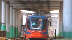 Several trams on tracks Stock Footage