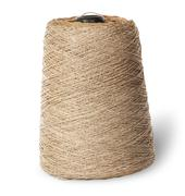 Vertical bobbin of old dirty thread beige Stock Photos
