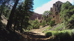 Viewpoint Entering Red Mountain Extinct Volcano Cinder Cone- Flagstaff AZ Stock Footage